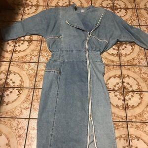 Blue denim jeans dress